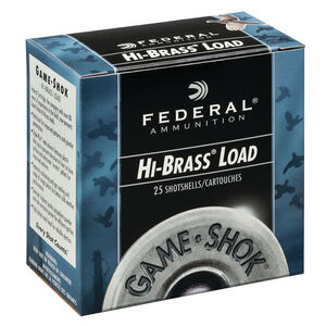 "Federal Game Shok Upland Hi-Brass Load 20 Gauge Ammunition 2-3/4"" #5 Lead Shot 1 Ounce 1220 fps"