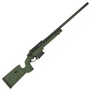 "Seekins Precision Havak Bravo 6mm Creedmoor Bolt Action Rifle 24"" Stainless Steel Match Grade Barrel 5 Round Detachable Box Magazine Chassis Black/Green"