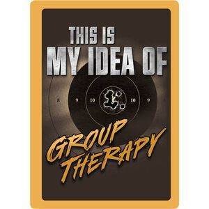 "River's Edge Products ""Group Therapy"" Tin Sign 12 Inches by 17 Inches 1462"
