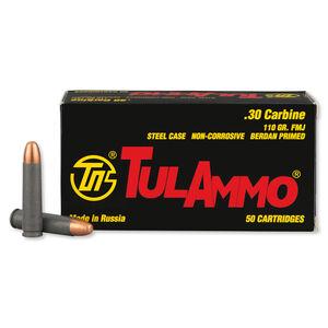 TulAmmo .30 Carbine Ammunition 50 Rounds FMJ 110 Grains TA301110