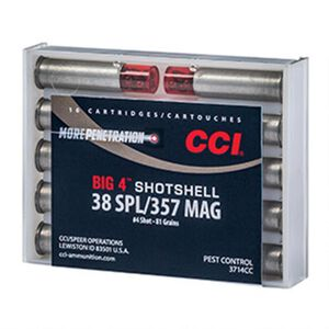 CCI .38 Special/.357 Magnum Ammunition 10 Rounds Shotshell #4 Shot 84 Grains