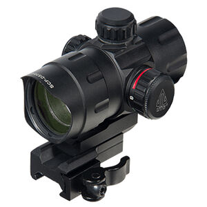 "Leapers UTG ITA Red/Green 4.2"" T-Dot Reticle QD Mount Matte Black SCP-DS3840TDQ"