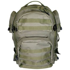 NcSTAR Tactical Backpack Nylon Hydration Compartment MOLLE Compatible Green