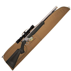 """CVA Wolf Muzzleloader Rifle with KonusPro 3-9×32 Scope and Case Combo Break Action In-Line .50 Caliber 209 Primer Ignition 24"""" SS Barrel Composite Stock Black"""