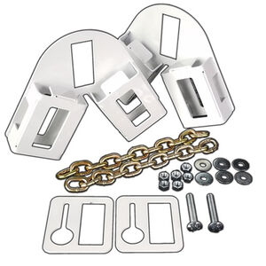 AR-Mor Target Stand Kit Two Stand Brackets/12 Link Chains/Bolt/Nuts/Washers Zinc Plated Natural Finish