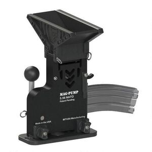 MagPump Elite AR-15 Magazine Loader .223 Rem/5.56 NATO 90 Round Hopper Feed With MagDump Magazine Stripper Polymer Housing Matte Black