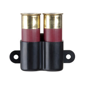 Safariland Model 81 Open Top Rivet Mount Double Shotgun Shell Holder 12 Gauge High Quality Injection Molded Polymer Matte Black Finish