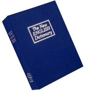 Bulldog Cases Deluxe English Dictionary Diversion Book Safe BLUE BD1180
