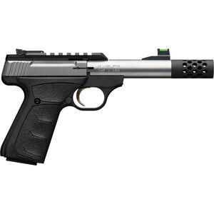 """Browning Buck Mark Micro Bull Stainless SR .22 LR Semi Auto Rimfire Pistol 4"""" Threaded Barrel 10 Rounds Synthetic Grips Stainless/Black Finish"""