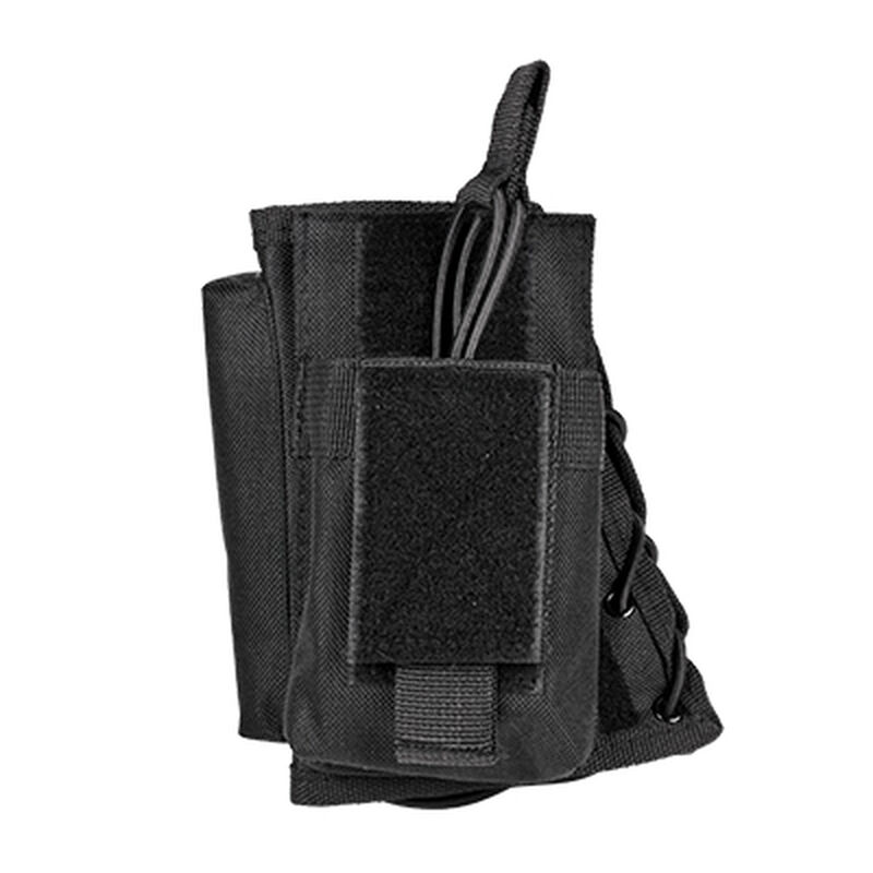 NcSTAR Stock Riser with Magazine Pouch Fixed Stocks Most AR and AK style Magazines Nylon Black