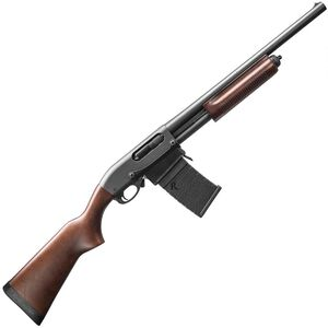 "Remington Model 870 DM Hardwood Pump Action Shotgun 12 Gauge 6 Rounds 18.5"" Barrel 3"" Detachable Box Magazine Hardwood Stock Matte Blued Finish"