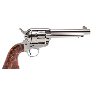 "Standard Manufacturing .45 Long Colt Single Action Revolver 5.5"" Barrel 6 Rounds Fixed Sights Two Piece Grip Nickel Plated Finish"