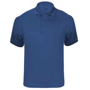 Elbeco UFX Tactical Polo Men's Short Sleeve Polo Large 100% Polyester Swiss Pique Knit Royal Blue