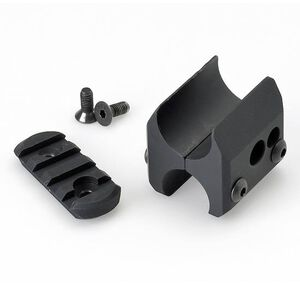 Mesa Tactical Remington 12 Gauge Barrel/Magazine Clamp With Rail Section Machined 6061-T6 Aluminum Black 90810