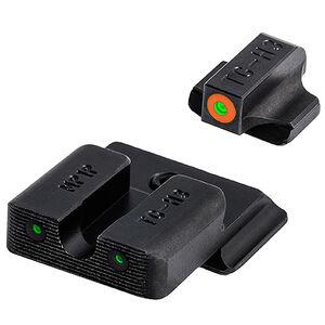 TRUGLO TRITIUM PRO Night Sights (Orange) For S&W M&P Orange Front Sight Ring Green Sights Black Bases