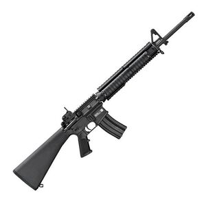 "FNH USA FN15 Military Collector M16 Semi Automatic Rifle 5.56 NATO 20"" Button Broached Chrome Lined Barrel 1:7 Twist 30 Round Knights Armament M5 RAS Adapter Rail with Rail Adapter Covers Fixed A2 Rifle Stock Black 36320"