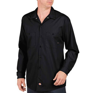 Dickies Long Sleeve Industrial Permanent Press Poplin Work Shirt Medium Regular LL535BK