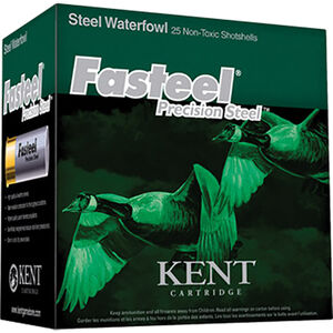 "Kent Cartridge Fasteel Waterfowl 12 Gauge Ammunition 3-1/2"" Shell #2 Precision Steel Shot 1-3/8oz 1550fps"