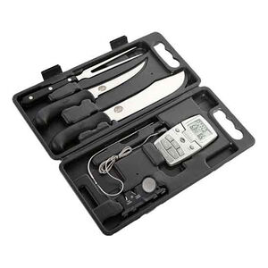 Bradley Smoker 5 Piece Carving Kit with Outdoor Edge Knives and Magnetic Case