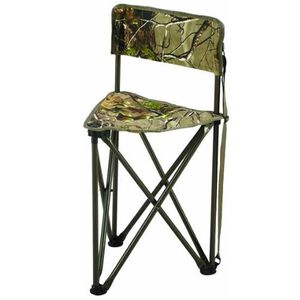 "Hunter's Specialties Tripod CamoChair 30""x19.5"" 225 lbs Weight Load Limit RealTree Xtra Green Camo Finish 07286"