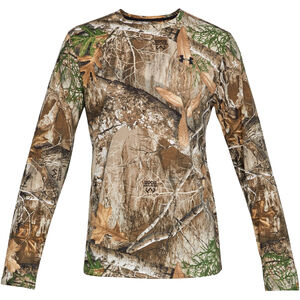 Under Armour Threadborne Early Season Men's Long Sleeve T-Shirt Microthread Polyester/Elastarell Fabric Moisture Wicking Realtree Edge Camo
