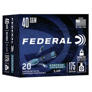 Federal Syntech Defense .40 S&W Ammunition 20 Rounds 175 Grain Syntech Segmented Hollow Point 1000fps