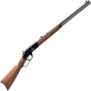 "Winchester 1873 Deluxe Sporter .357 Mag Lever Action Rifle 24"" Half Octagon Barrel 13 Rounds Walnut Stock Blued"