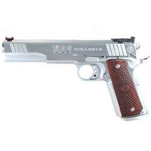 "MAC Bullseye 1911 Semi Automatic Pistol .45 ACP 6""Barrel 8 Round Capacity Hardwood Grips Hard Chrome Finish M19BE45C"