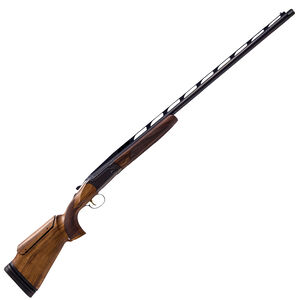 "CZ USA All American Single Trap 12 Gauge Shotgun 34"" Ported Barrel 3"" Chamber 1 Round Raised Steel Rib Turkish Walnut Stock with Adjustable Comb/Butt Gloss Blue"