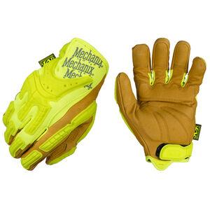 Mechanix Wear Commercial Grade Hi-Viz Heavy Duty Gloves Leather/Synthetic XXL Yellow CG40-91-012