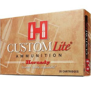 Hornady Custom Lite 7mm-08 Remington Ammunition 20 Rounds SST 120 Grains 80572