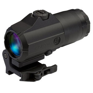 SIG Sauer Juliet4 4x Magnifier 24mm Objective Powercam Flip To Side Quick Release 1913 Picatinny Rail Mount Aluminum Housing Matte Black