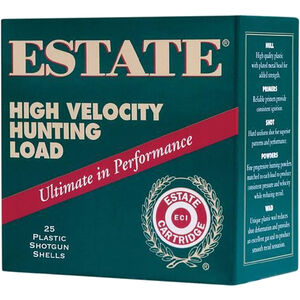 "Estate Cartridge High Velocity Hunting Load 12 Gauge Ammunition 2-3/4"" Shell #4 Lead Shot 1-1/4oz 1330fps"