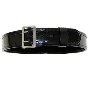 "Bianchi Sam Browne AccuMold Elite Duty Belt 32""-34"" Brass Buckle High Gloss Finish Black 22381"