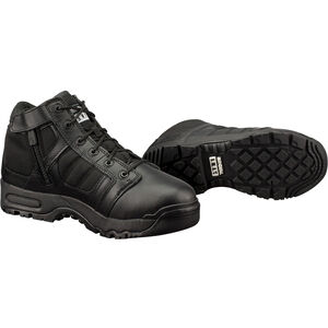 "Original S.W.A.T. Metro Air 5"" Side Zip Men's Boot Size 10.5 Wide Non-Marking Sole Leather/Nylon Black 123101W-105"