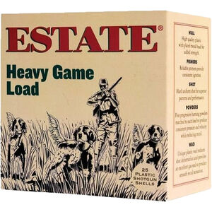 "Estate Cartridge Upland Hunting Load 20 Gauge Ammunition 2-3/4"" Shell #6 Lead Shot 1oz 1165fps"