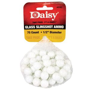 """Daisy PowerLine Glass Slingshot Ammo .5"""" White 75 Pack 8383"""