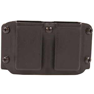 Mission First Tactical OWB Double Magazine Pouch Belt Mount Double Stack 9mm/40 S&W Magazines Polymer Black