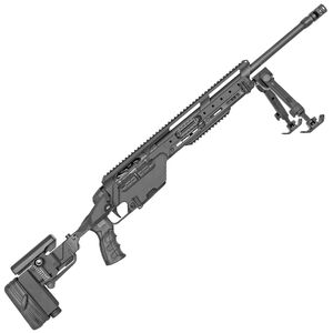 "Steyr SSG 08 A1 Bolt Action Rifle .308 Winchester 23.6"" Barrel 5 Round Magazine Integral Picatinny Rail Bipod Matte Black Finish"