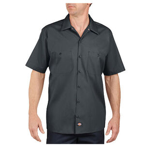 Dickies Short Sleeve Industrial Permanent Press Poplin Work Shirt Large Tall Black LS535BK