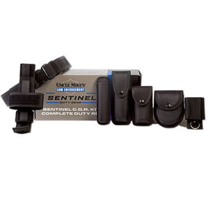 Uncle Mike's Sentinel 9 Piece Duty Rig Kit Large, Black