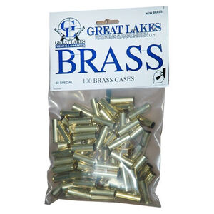 Great Lakes Firearms and Ammunition .38 Special New Unprimed Brass 100 Pack B687450