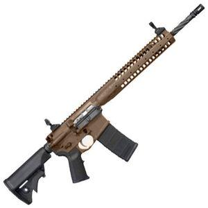 "LWRC Individual Carbine SPR AR-15 5.56 NATO Semi Auto Rifle, 14.7"" Barrel 30 Rounds, Brown"