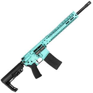 "Black Rain BRO Fusion AR-15 5.56 NATO Semi Auto Rifle 16"" Barrel 30 Rounds M-LOK Slim Handguard MFT Stock Tiffany Blue Battleworn"