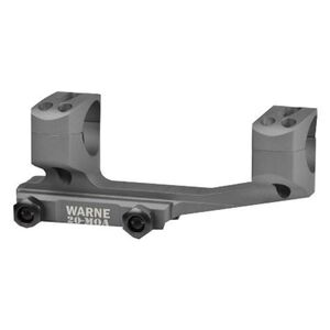 "Warne Scope Mounts Gen 2 Extended SKEL One Piece MSR/AR-15 Skeletonized Scope Mount 1"" Tube Diameter 20 MOA Lightweight 6061 Aluminum Matte Black"