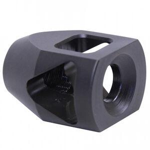 Guntec AR-15 GEN 2 Steel Micro Multi Port Muzzle Compensator 5.56/.223 Caliber 1/2x28 TPI Aluminum Black