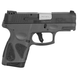 "Taurus G2S Slim 9mm Luger Semi Auto Pistol 3.2"" Barrel 7 Rounds 3 Dot Sights Matte Black Slide/Gray Frame"