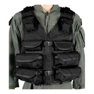 BLACKHAWK! Omega Tactical Medic Utility Vest S.T.R.I.K.E. MOLLE Webbing Size Adjustable Nylon Black 30EV08BK