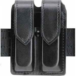 Safariland Model 77 Double Handgun Magazine Pouch Single/ Double Stack Magazines Plain Finish Hidden Snap Closure Black 77-53-2HS