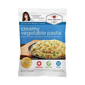 Wise Foods Freeze Dried Creamy Vegetable Pasta 4 serving Pouches
